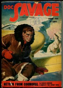 Doc Savage-Spring 1949-Street & Smith-Return From Cormoral-rare issue-VG