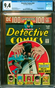 Detective Comics #438 CGC Graded 9.4 100 Page Super Spectacular. Manhunter ba...