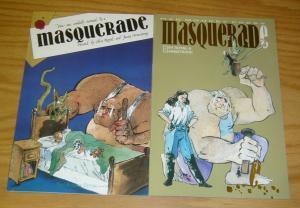 Masquerade #1-2 VF/NM complete series - mad monkey press - indy comics set lot