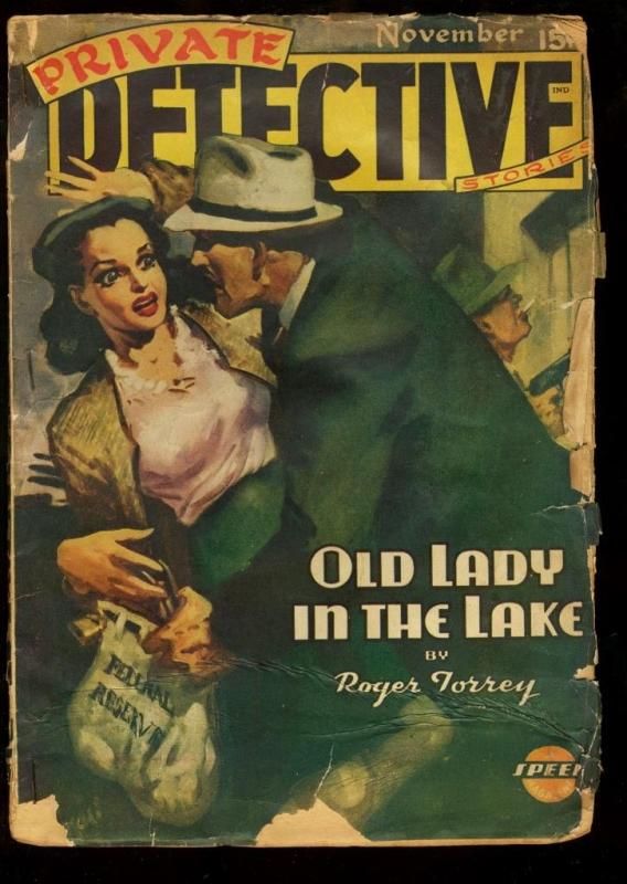 PRIVATE DETECTIVE 1944 NOV-RARE PULP G