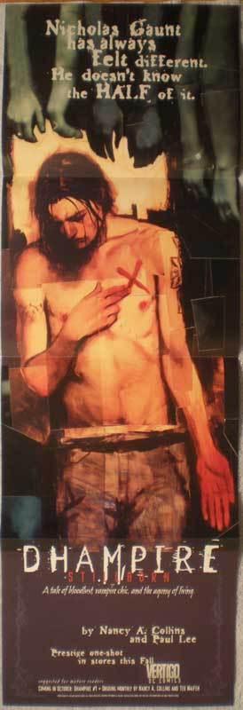 DHAMPIRE Promo poster, Vampire, 11x34, 1996, Unused, more Promos in store