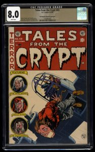 Tales From The Crypt #43 CGC VF 8.0 White Pages