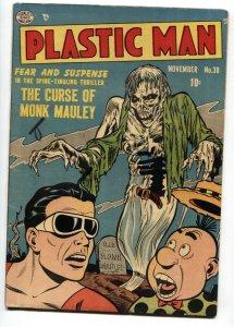 Plastic Man #38 Pre-code Horror Cover-1952 Golden-Age-Zombie