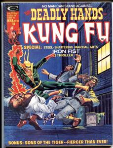 The Deadly Hands of Kung Fu #10 mag-1975 1st Steel Serpent-Iron Fist- VF-