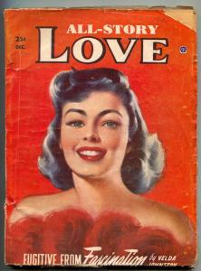 All-Story Love Pulp December 1952- Fugitive From Fascination G/VG