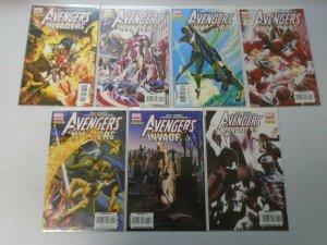 Avengers Invaders set #1-12 + Sketch book 8.5 VF+ (2008)