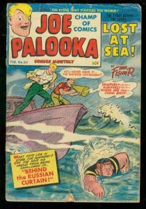 JOE PALOOKA #65 1952-HARVEY COMICS-HAM FISHER-COLD WAR G-