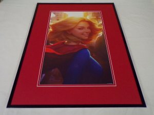 Supergirl Framed 16x20 Poster Display DC Comics Artgerm Lau