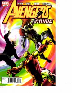 Lot Of 2 Marvel Comic Book Avengers Prime #2 and Secret Avengers #1 MS20