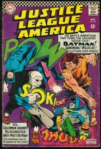 JUSTICE LEAGUE OF AMERICA #46-1966-BATMAN/SUPERMAN VG