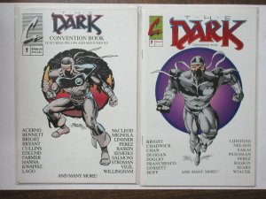 Dark Convention Book 1-2 Pinups, Sketches! 1992,1993 Vigil, Foglio, Perez, +++++