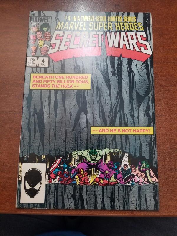 MARVEL SUPER HEROES SECRET WARS # 4 AVENGERS VF/NM