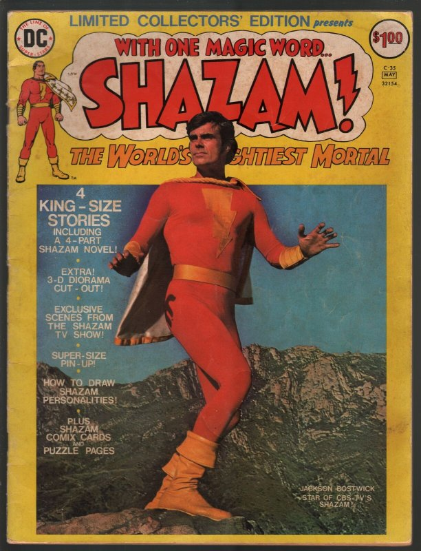 Hand Painted Color Guide-Capt Marvel-Shazam-C35-1975-DC-page 38-Batson-VG/FN