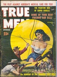 True Men 9/1960-women hanging cover-Cuban Civil War-exploitation-cheesecake-VG