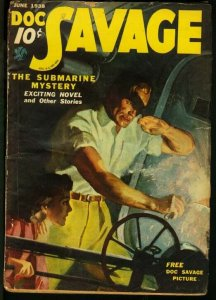 DOC SAVAGE 1938 JUN-RARE STREET AND SMITH PULP VG