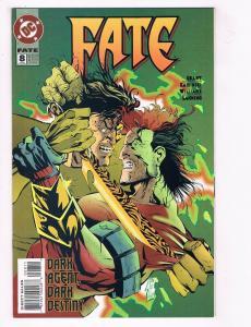 Fate #8 VF DC Dark Agent Of Destiny Comic Book Grant JSA June 1995 DE38 AD11