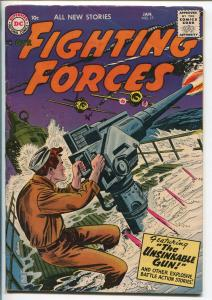 OUR FIGHTING FORCES #17-1957-DC-SILVER AGE-FROGMAN-SUBMARINE-RUSS HEATH-fn minus