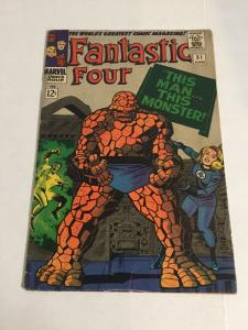 Fantastic Four 51 Vg Very Good 4.0 Cover Detached Marvel Silver Age
