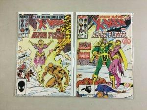 X-Men Alpha Flight set #1+2 6.0 FN (1985 1st series)