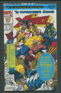 X-Force #16  (Poly-Bagged w/Cable Card) NM+/  November 1992