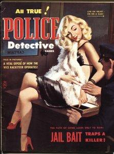 POLICE DETECTIVE CASES-February 1951-Spicy GGA Prostitute cover-Magazine