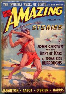 Amazing Stories Pulp January 1941- John Carter of Mars- Burroughs G