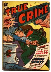 True Crime #4 1948-Morphine / dope-Jack Cole-Canadian edition-rare Golden-Age