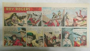 Roy Rogers Sunday Page by Al McKimson from 11/30/1952 Size 7.5 x 15 inches