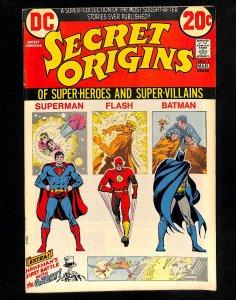 Secret Origins #1 Superman Batman Flash!