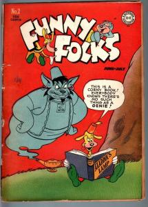 FUNNY FOLKS #2-1946-NUTSY SQUIRREL-GENIE COVER-GOLDEN AGE DC-G G