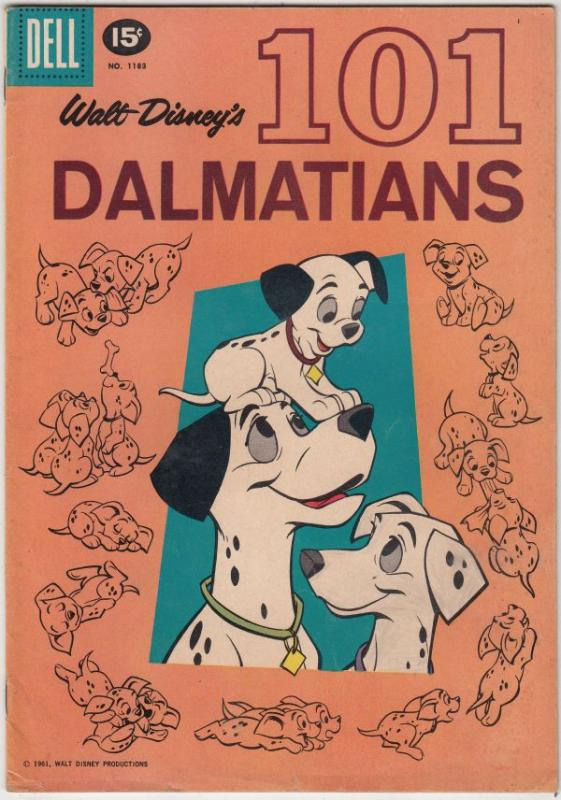 Four Color #1183 (Mar-61) FN/VF Mid-High-Grade 101 Dalmations, Roger, Pongo, ...