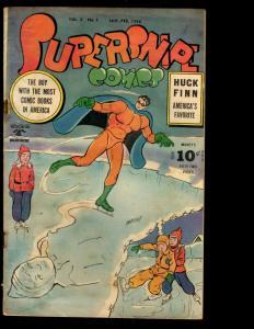 Supersnipe Comics Vol. # 3 # 1 VG Comic Book Golden Age 1945 Huck Finn NE1