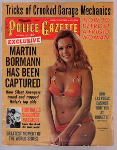 National Police Gazette 10/1972-swimsuit cover-cheesecake-Martin Bormann-Nazi-VG