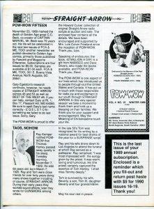Straight Arrow Pow-Wow Vol. #4 #15 1989-- Western fanzine newsletter