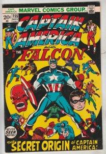 Captain America #155 (Nov-72)  High-Grade Captain America