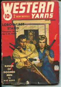 WESTERN YARNS FALL 1942-DOUBLE ACTION-ROPED SHERIFF-ACTION PACKED PULP-vg