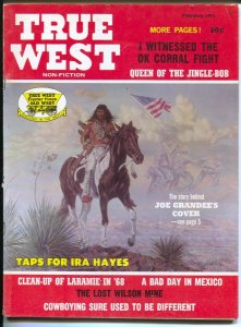 True West 2/1971-Joe Grandee Iwo Jime cover with Ira Hayes-violence-pulp thri...