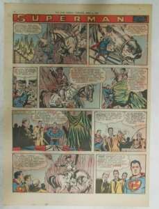 Superman Sunday Page #910 by Wayne Boring from 4/7/1957 Size ~11 x 15 inches