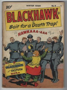 Blackhawk #9, Winter 1944, 1st Blackhawk Issue