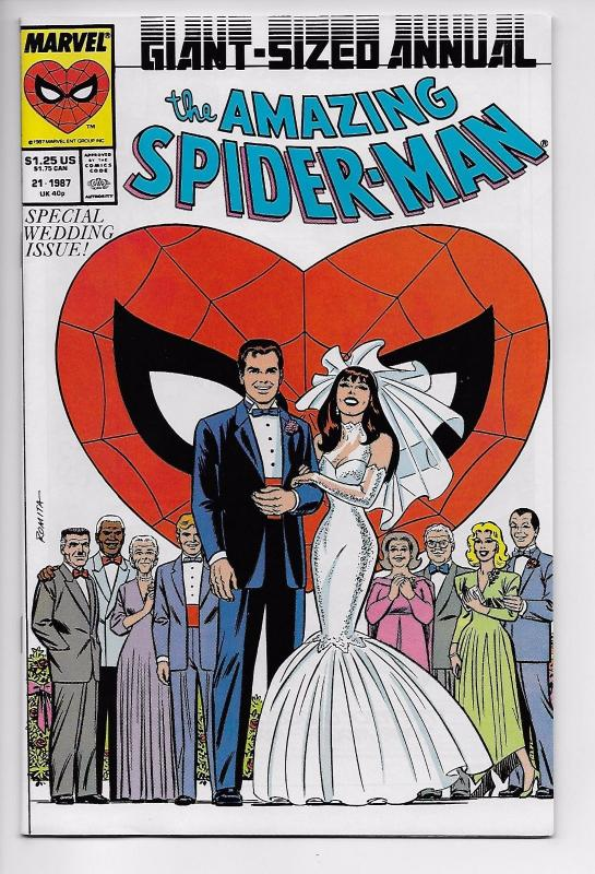 Amazing Spider-Man Annual #21 Wedding Issue w/Promo Postcard (Marvel, 1987) NM-