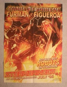 TRANSFORMERS STORMBRINGER Promo Poster, 18x24, Unused, more Promos in store