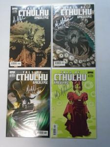 Fall of Cthulhu Apocalypse, Set:#1-4, Signed By Michael Alan Nelson, NM (2008)