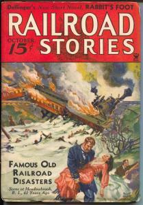 Railroad Stories 10/1934-Munsey-railroad disasters-pulp adventure & thrills-FN