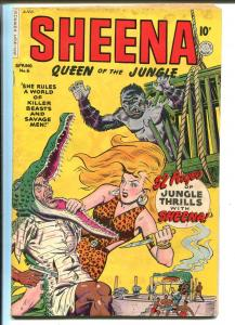 Sheena Queen of The Jungle #6 1950-Fiction House-spicy cover & interior art-VG-