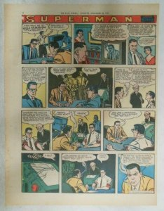Superman Sunday Page #942 by Wayne Boring from 11/17/1957 Size ~11 x 15 inches