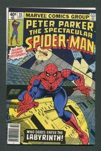 Peter Parker,Spectacular Spiderman #35 /  7.0 FN/VFN  October 1979