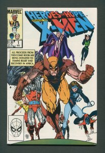 Heroes for Hope #1 (X-Men) / 8.5 VFN+  / December 1985