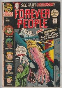 Forever People #9 (Jul-72) VF High-Grade Big Bear, Beautiful Dreamer, Serifin...