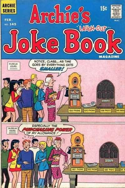 Archie's Joke Book Magazine #145, Fine (Stock photo)