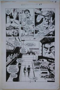 PAUL GULACY original art, MARVEL COMICS PRESENTS #27 pg 18,11x17, ColdBlood